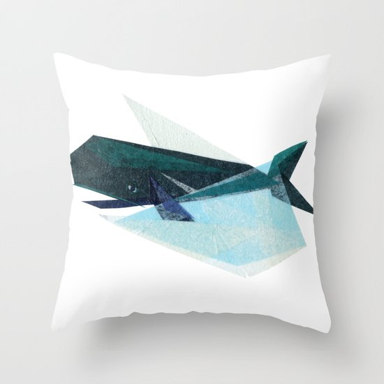 Ira Whale Throw Pillow