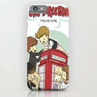 iPhone & iPod Case featuring Take Me Home Cartoon One Direction by xjen94