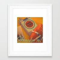Smoke 'n Framed Art Print