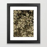 Tiny Fall Flowers Framed Art Print