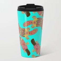 duck-billed platypus turquoise Travel Mug
