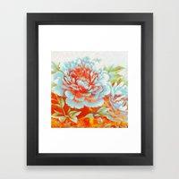 textured floral Framed Art Print