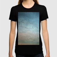 Toward The Sunset Womens Fitted Tee Black SMALL