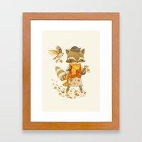 Rebecca The Radish Racco… Framed Art Print