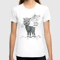 Llama Or Alpaca Womens Fitted Tee White SMALL