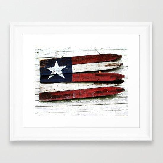 The Grand Ol' Wooden Flag Framed Art Print