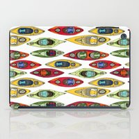 I Heart Kayaks Pattern iPad Case