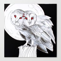 Mutant Owls Canvas Print