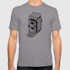 Rolleiflex Mens Fitted Tee Athletic Grey SMALL