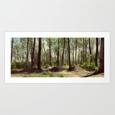 BMX Track in the Woods Art Print