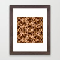 Leopard Print Kaleidoscope Abstract Framed Art Print