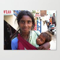 Indian Poor Woman Canvas Print