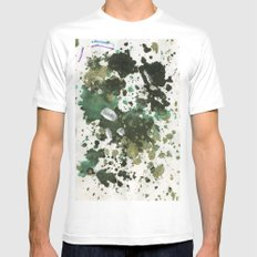 inkdots Mens Fitted Tee White SMALL