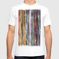 fancy stripes 1 Mens Fitted Tee White SMALL