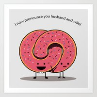 Husband and Wife Art Print