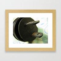 plug 1 Framed Art Print