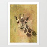Lady Giraffe Art Print