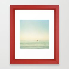 Summer Pontoon Framed Art Print