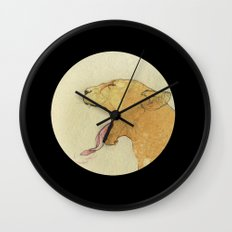 The lady and the lion. Wall Clock