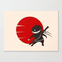 LITTLE NINJA STAR Canvas Print