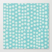 Blue Spots Canvas Print