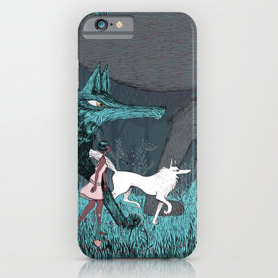 Woman Wolf wandering iPhone & iPod Case