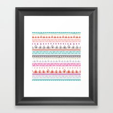Half Full Stripe Framed Art Print