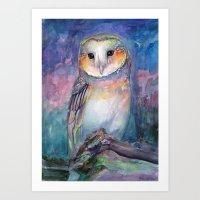 Owl Guardian Of Memories Art Print