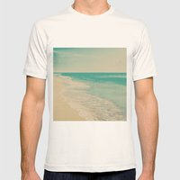 Love Comes In Sea Waves Mens Fitted Tee Natural SMALL