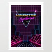 Libertee Synthwave Art Print