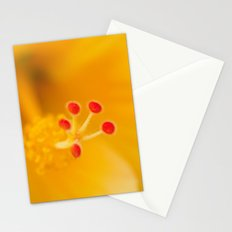 Yellow Hibiscus Heart 466 Stationery Cards