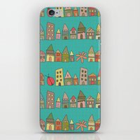 City {Housylands - Teal} iPhone & iPod Skin