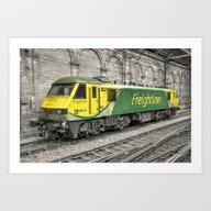 Freightliner 90  Art Print