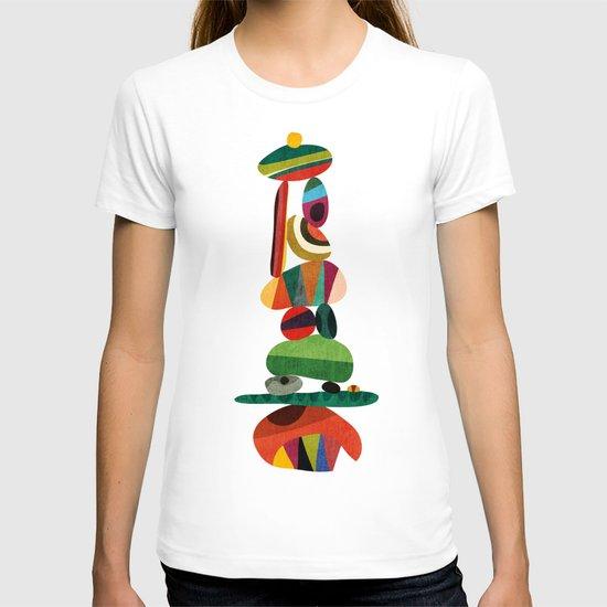 Totem - balanced pebbles T-shirt