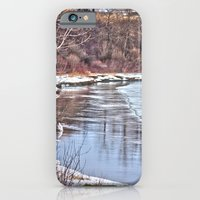 iPhone & iPod Case featuring Snowy Riverbank by Nicholas Fischer
