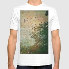 The Birds White Mens Fitted Tee SMALL