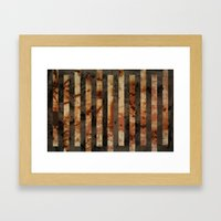 Rusty barrel abstraction Framed Art Print