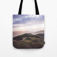 good morning mountains Tote Bag