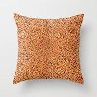 Saulo - Gold Glitter Foi… Throw Pillow