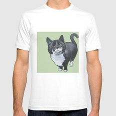 Gus White SMALL Mens Fitted Tee
