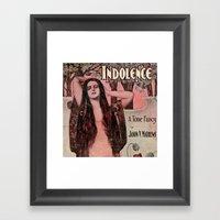 Indolence Vintage Art Framed Art Print