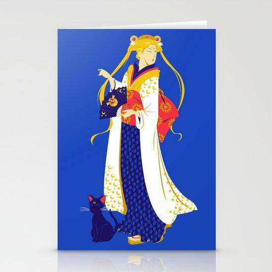 Geisha Moon Stationery Card