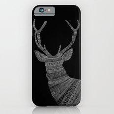 Stag / Deer (On Black) Slim Case iPhone 6s