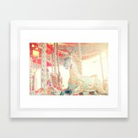 On The Carousel Framed Art Print