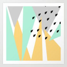 Mod Triangles With Brush… Art Print