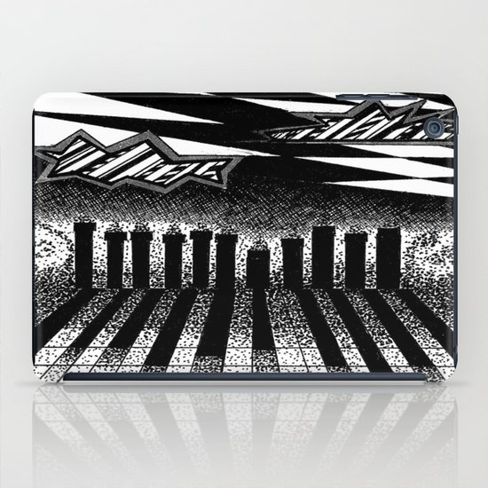 descending of night at the factory iPad Case