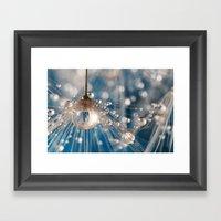 Dandelion Blue Sparkling… Framed Art Print