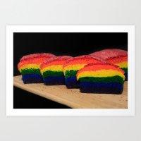 Rainbow Bread Art Print