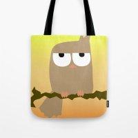 owl on a tree Tote Bag