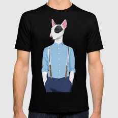 Skinhead Bull Terrier Black Mens Fitted Tee SMALL
